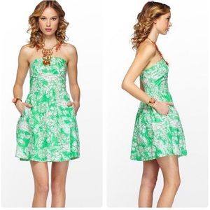 Lilly Pulitzer Chandie Dress Green Beach Bash